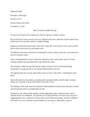 Biology Written Expression Articles 1-5