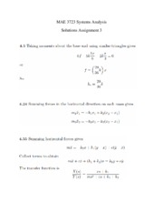 Solutions Assignment 3