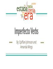 Imperfecto Verbs