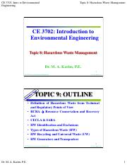 CE 3702 - Topic 8 - Hazardous Waste Management.pdf