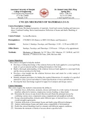 CVE-223 - Section 1 - Course Outline - Spring 2011(2)
