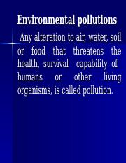 Lecture 22 Environmental Pollutions.ppt