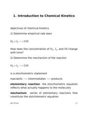 Advanced Physical Chemistry Lecture 1