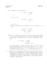 Math 300 Assignment #8 Solutions