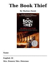 English 10 Book thief Packet 2012-13