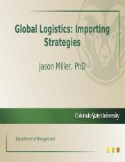 Importing Strategies