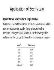 Application-of-Beers-Law