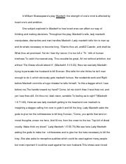 Macbeth Essay    Throughouttheplaymacbethswifeladymacbeth   Pages Macbeth Essay