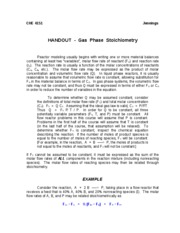 Handout - Gas Phase Stoichiometry