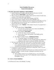 Intro to Buddhist Discourses Study Guide