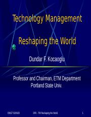 520-23+Technology+Management++Reshaping+the+World
