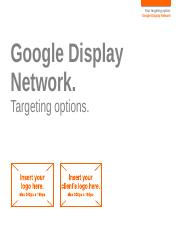 Display - GDN - Targeting Options