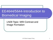 LN09_Fall2015_IBI_MRI_Contrast and Image Formation