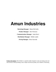 Project Assignment on Amum Industries