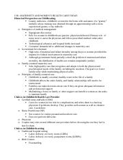 Maternal Test 1 Study guide .docx