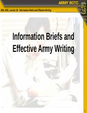 MSL4301_L18_Info_Briefs_and_Effective_Writing_for_Officers