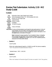 M2 Study Guide