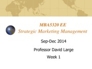 Lecture 1 Introduction to marketing for Strategic Marketing Management