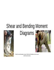 15  Shear and Bending Moment Diagrams