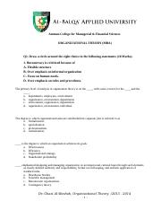 OrganizationalTheory (MBA)-Assignment - Copy.doc