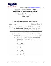 (www.entrance-exam.net)-IGNOU Diploma in Electrical and Mechanical Engineering-Electrical Technology