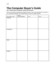 Review sheets CE 2014 Computer Buyers Guide