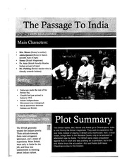 The Passage To India Class Notes