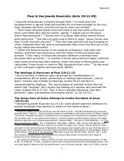Paul & the Jewish Exorcists Acts 19 (CM Handout)-2