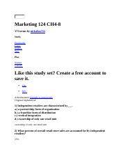 Marketing 124 CH4