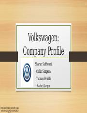 Volkswagen-The Company Profile (Presentation)