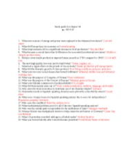 Study Guide 18