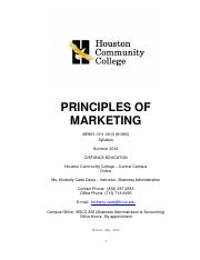 Syllabus.Principles of Marketing.-Summer 2012 Distance Ed