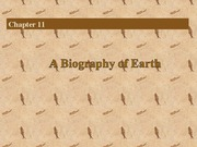 Biology of the Earth