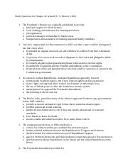 History 1302 Study Questions for Chapter 22