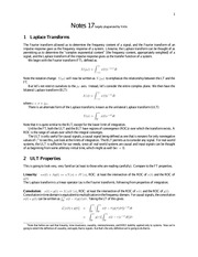 Laplace Study Guide