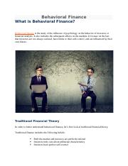 Behavioral Finance theory.docx