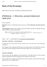 [FM] Bonds – I_ Dirty price, accrued interest and clean price _ Back of the Envelope