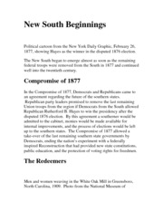 New South Beginnings