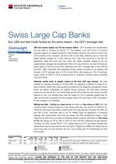 Swiss large cap banks buy ubs sell csfb