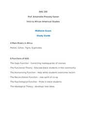 AAS100 Midterm study guide