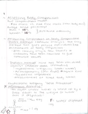 Body Composition Notes
