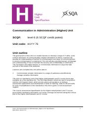 CfE_Unit_H_AdministrationandIT_CommunicationinAdministration