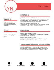 Polished Financial Resume