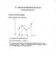 Notes 11.7. Constrained Optimization