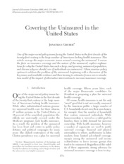 Gruber JEL 2008 - Covering the Uninsured in the US