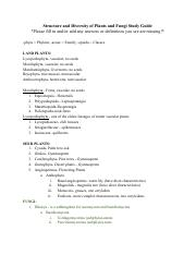 Structure and Diversity of Plants and Fungi Study Guide.pdf