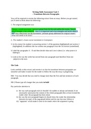 writing skills assesement task3