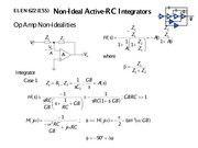 Lecture 3B on Non-Ideal Active RC