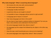 Why Language is important to study