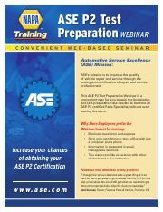 ASE P2 Test Prep Flyer (1) pdf - Automotive Service